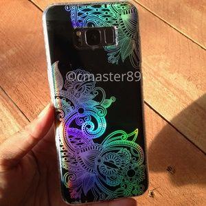 Black Hologram Paisley Henna Samsung S8 Plus Case